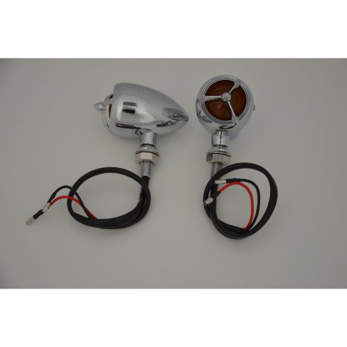 Chrome Tri Bar Torpedo Motorcycle Motorbike Indicators Project Retro Cafe Racer