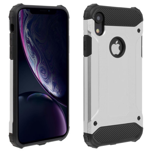 Defender II Series Protection Case Apple iPhone XR - Drop proof - Silver