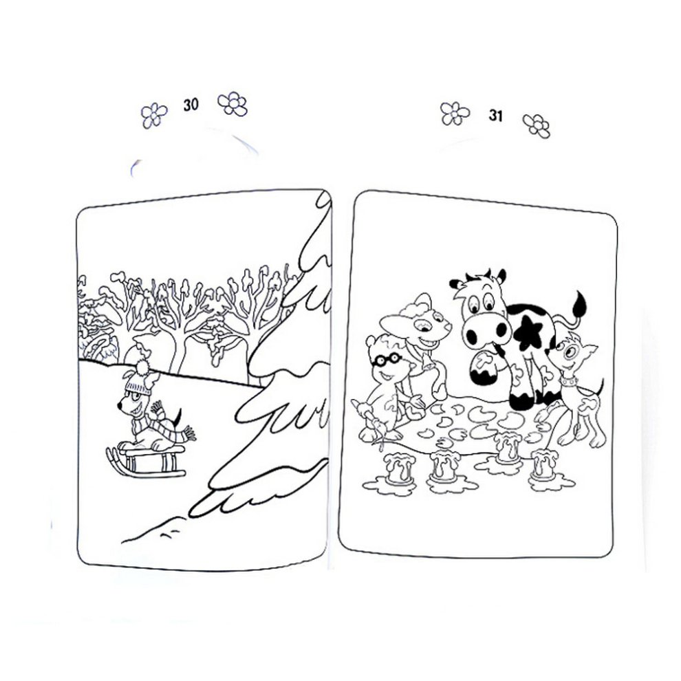 Creative Doodle Coloring Book Print Books Pages Dairy