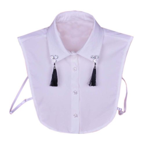 Elegant Women Fake Collar Detachable Dickey Blouse Half Shirts for Sweater, #01