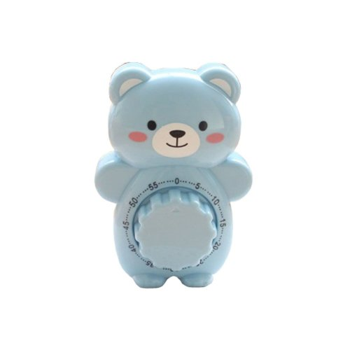 "[BLUE]4.3""Cute Bear Suspensibility Mechanical Kitchen Timer/Reminder-60 Minutes"