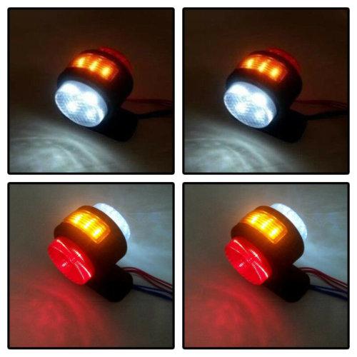 4X 11 SMD LED AMBER RED WHITE SIDE MARKER LIGHTS TRAILER CHASSIS TRUCK 12V UK