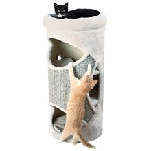 Trixie Gracia Cat Tower, 85 Cm, Light Grey - Towercm Scratching Post New -  cat trixie gracia tower light grey 85 cm scratching post new