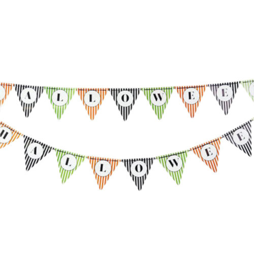 2PCS Halloween Triangle Flag Letters Creative House Party Decor 30CM