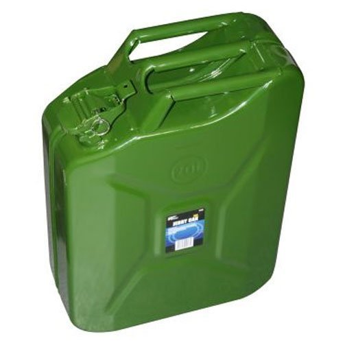 20 Litre Heavy Duty Green Metal Jerry/petrol/fuel Can Ideal For Keeping In The -  litre green jerry can metal 20 army carrier container fuel petrol
