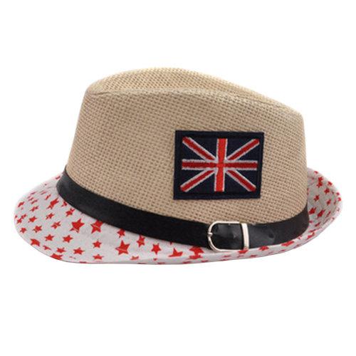 Unisex Kids Fedora Hat Bucket Hat, Lightweight Cap Sunhat Union Jack Red Star