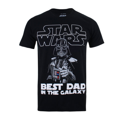 Star Wars Vader Best Dad Mens T-shirt Black
