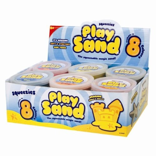 4 x Tubs of Magic Moving Moulds Squeeze Play Sand Never Dry Party Bag Toy Gift