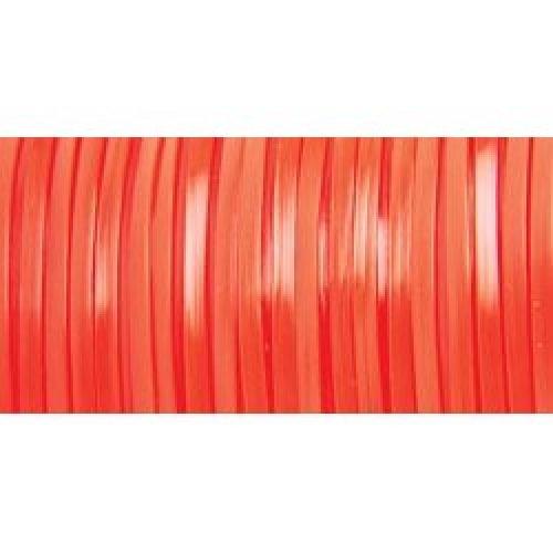 "Rexlace Plastic Lacing .0938""X100yd-Neon Orange"