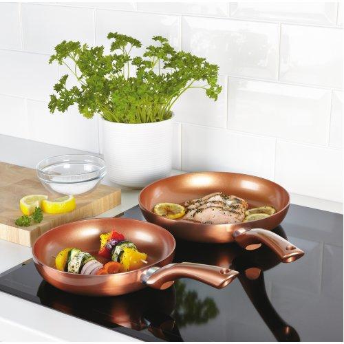 New Cermalon Copper 2 PCS Cookware Frying Pan Set