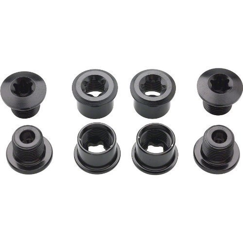 Shimano Fc M970 Double Chainring Bolt And Nut Set Black M8X7 Mm