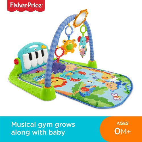 Fisher-Price BMH49 Kick and Play Piano Gym, New-Born Baby Play Mat with Activity Centre, Music and Sounds, Suitable from Birth