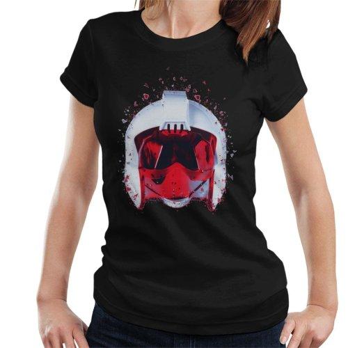 Original Stormtrooper Rebel Pilot Helmet Shatter Effect Women's T-Shirt