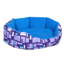 Detachable Small And Medium-sized Pet Kennel, Blue And Purple