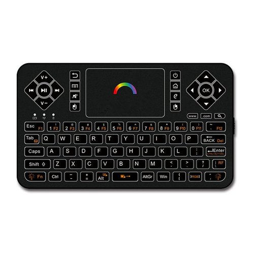 9a55a645edc Best Wireless Keyboard with Touchpad Mouse - Q9 2.4GHz Colorful Backlit  Mini Wireless Keyboard, Handheld Remote Control for Android TV Box,  Windows... on ...