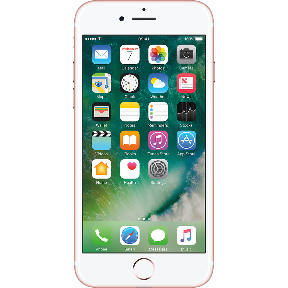 Three, 128GB Apple iPhone 7 - Rose Gold