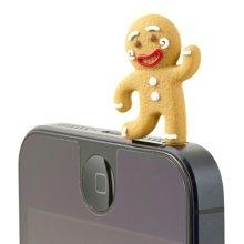 3 Pcs 3.5mm Cell Phone Universal Dust Plug Ginger Bread Men Ear Cap