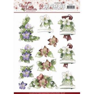 Find It Trading SB10208 Xmas Rose-Marieke Punchout Sheet