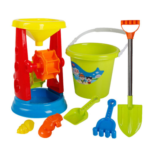 7 Piece Beach sand Toy Set, Bucket, Shovels, Rakes,Perfect for Holding Childrens' Toys#A