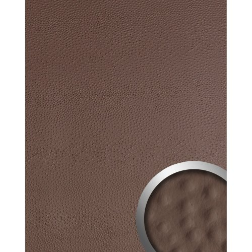WallFace 13403 OSTRICH Wall panel leather decor wallcovering brown | 2.60 sqm