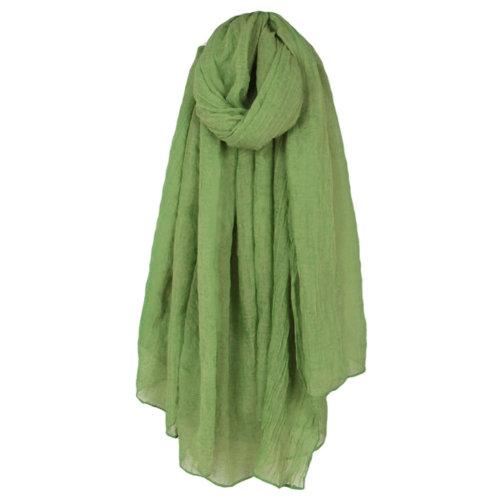 Womens Fashion Solid Scarves Comfortable Scarf Shawl Wrap Neck Wear, Green