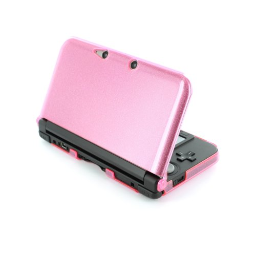 ZedLabz polycarbonate crystal hard case cover shell for Nintendo 3DS XL (Old 2012 model) protective armour - pink glitter armor