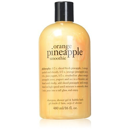 PHILOSOPHY ORANGE PINEAPPLE SMOOTHIE SHAMPOO, SHOWER GEL & BUBBLE BATH  16 OZ by Philosophy
