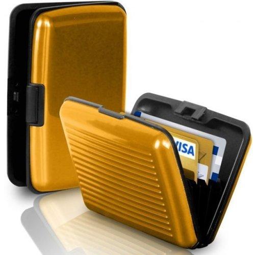 Aluminium Credit Card Business Card Holder - Gold