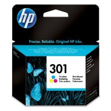 HP 301 Tri-color Original Ink Cartridge (CH562EE)