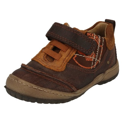 Boys Startrite Casual Shoes Skid - Brown Leather - UK Size 4G - EU Size 20 - US Size 5