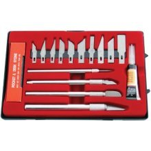 17pc Hobby Knife Kit - Amtech 17 Pieces -  amtech hobby 17 pieces