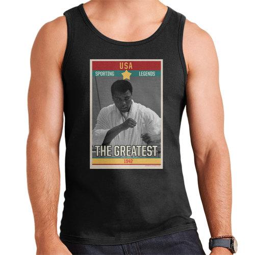 Sporting Legends Poster USA Muhammad Ali The Greatest 1942 Men's Vest