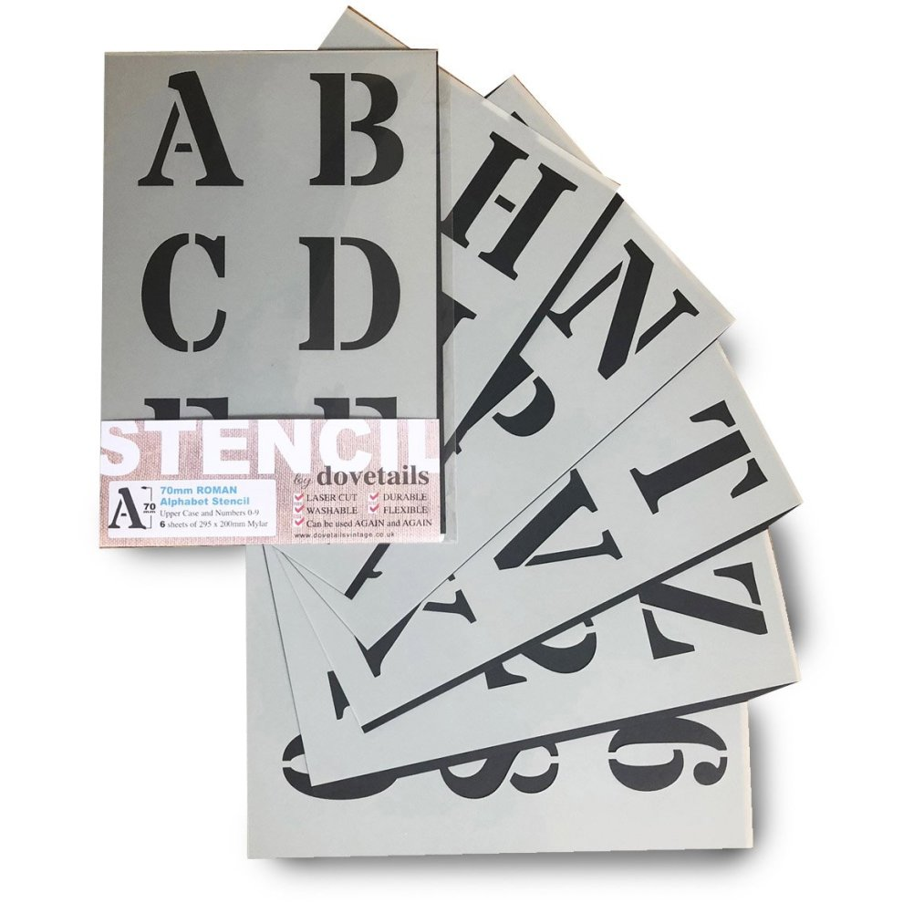 Alphabet Stencils Letter/Numbers 70mm (2 75