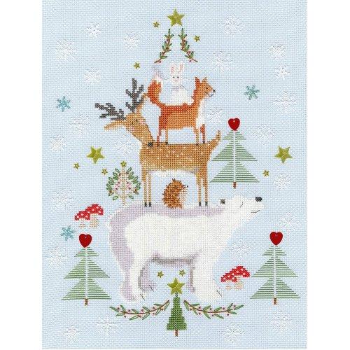 Bothy Threads Cross Stitch Kit - Snowy Stack - Christmas design by Karen Tye Bentley XX16