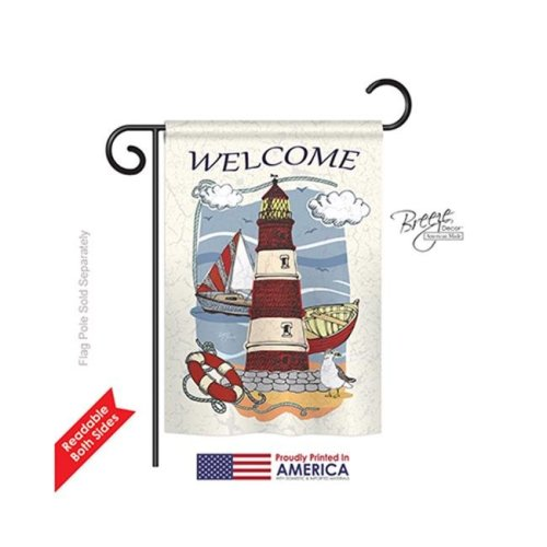 Breeze Decor 56063 Beach & Nautical Lighthouse Shore 2-Sided Impression Garden Flag - 13 x 18.5 in.