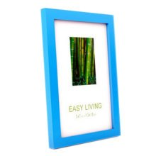 Decorative Wood 4-by-6-Inch Picture Photo Frame, Set Of 2, Blue