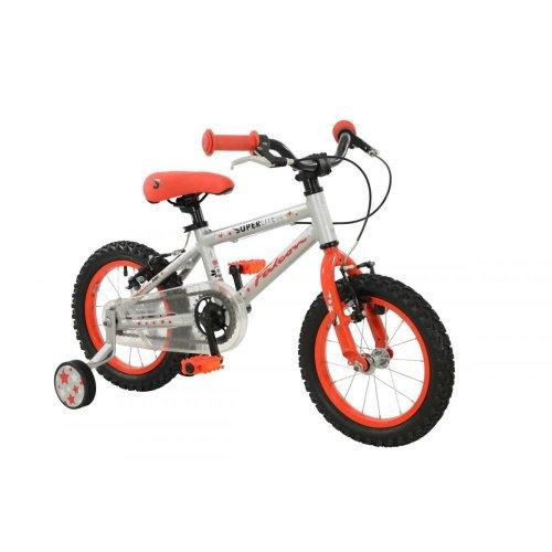 "Falcon Superlite Boys Girls 14"" Wheel Lightweight Alloy Single Speed Bike Cycle"