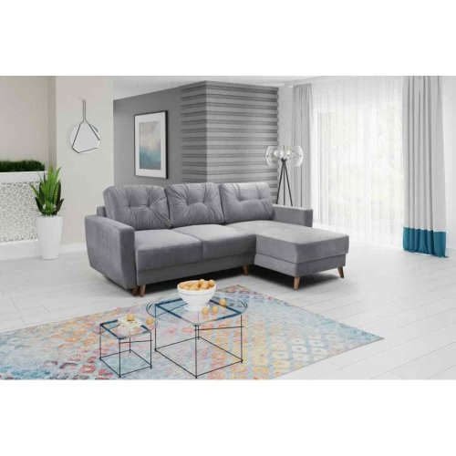 Corner Sofa Bed Retro 2, Storage, Trinity Fabric