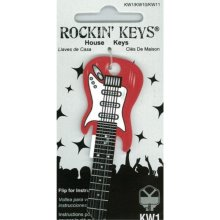 Cherry Red Electric Guitar Shaped Rockin Key Kwikset KW1 KW10