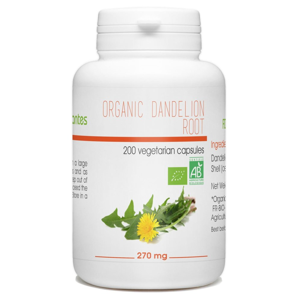 Organic Dandelion Root - 270mg - 200 Vegetable Capsules