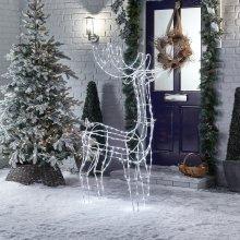 Premier Decorations - Mains Operated Indoor & Outdoor Acrylic Standing Reindeer Christmas Figure
