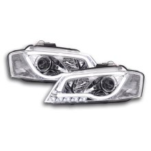 DRL Daylight headlight Audi A3 8P Year 08-12 chrome