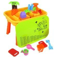 deAO Sand and Water Table with Lid for Toddlers Including Assorted Accessories