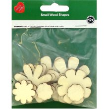 Assorted Wood Shapes-Flowers 10/Pkg