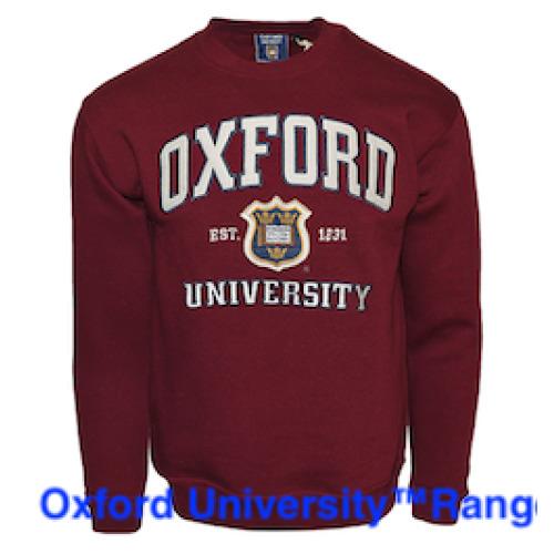 OU201 Unisex Licensed Oxford University Sweatshirt Maroon