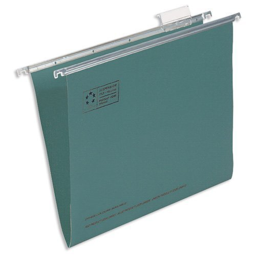 5 Star Office Suspension File Manilla Heavyweight Foolscap Green [Pack 50]