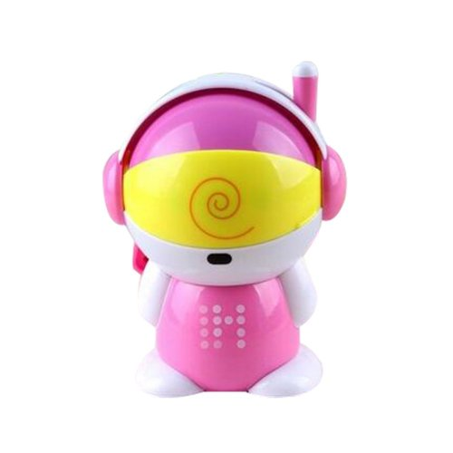 Creative Cute Students Manual Pencil Sharpener Chainsaw Crayon Sharpener(Pink)