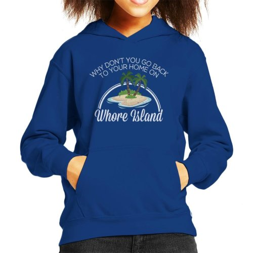 Anchorman Whore Island Ron Burgundy Kid's Hooded Sweatshirt