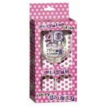 Keepsake Glass Wine For 40th Birthday - Gift Celebration Pink Her Novelty Ladies -  glass birthday wine 40th gift keepsake celebration pink her