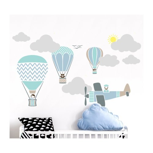 HOT AIR BALLOON RACE Set of 8 Wall Stencils for Painting